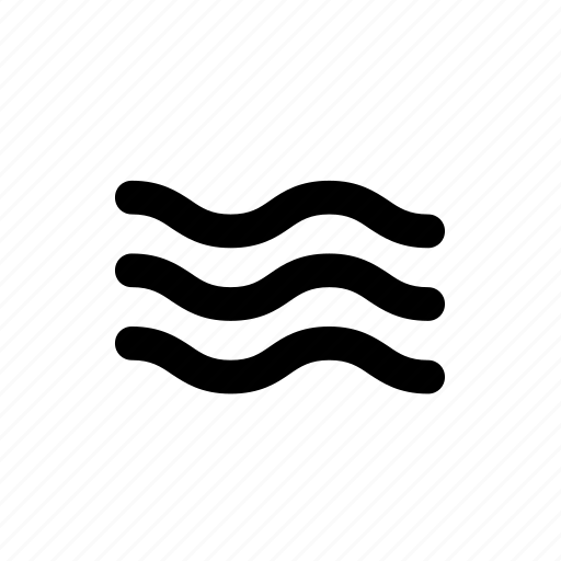 waves, weather, wind icon