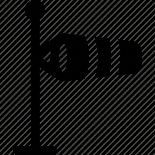indicator, measurement, tool, wind, windsock icon