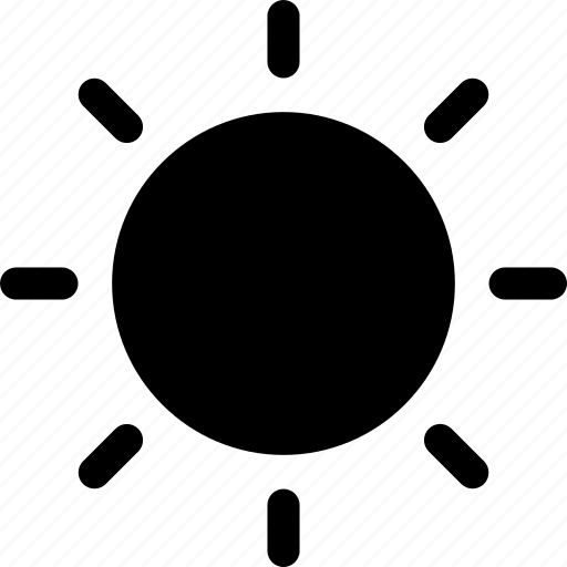 day, mostly, sun, sunny, sunshine, weather icon