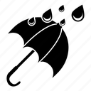 drizzle, forecast, rain, storm, umbrella, weather, wet icon