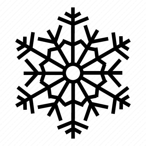 christmas, flake, forecast, snow, snowflake, weather, winter icon