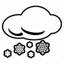 cloudy, forecast, rain, snowing, storm, weather, winter icon