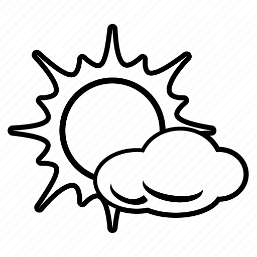 cloud, cloudy, forecast, sun, sunny, temperature, weather icon