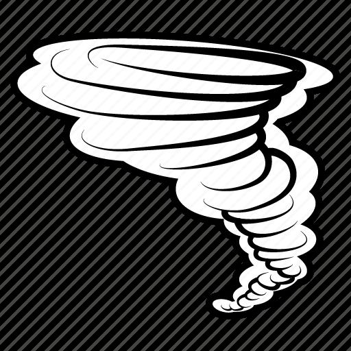 forecast, lightning, rain, storm, tornado, weather, wind icon