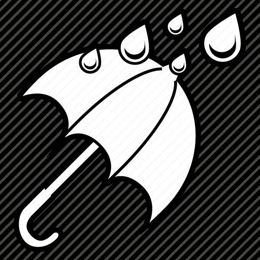 drops, forecast, rain, umbrella, water, weather, wet icon