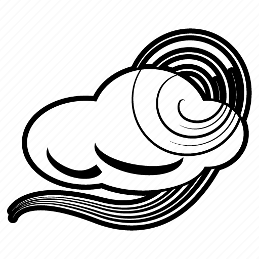 cloud, cloudy, forecast, gust, temperature, weather, windy icon
