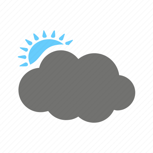 beauty, cloud, day, pleasent, sun, weather icon