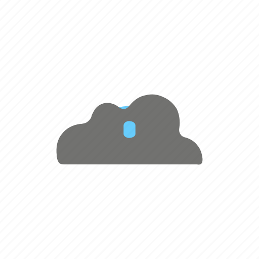 cloud, drops, forecast, hail, heavy, rain, weather icon