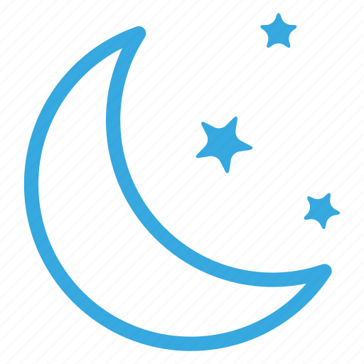 climate, moon, night, weather, winter icon