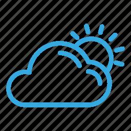 climate, cloud, sun, weather, winter icon