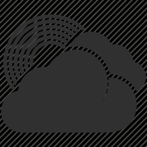 clouds, meteorology, rain, rainbow, sun, temperature, weather icon