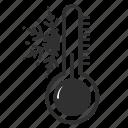 cold, snow, snowflake, temperature, termometr, weather, winter