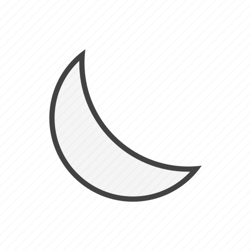 forcast, moon, night, weather icon