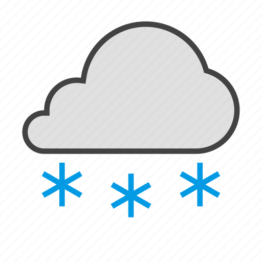 cloud, cloudy, cold, forcast, freezing, snow, weather icon