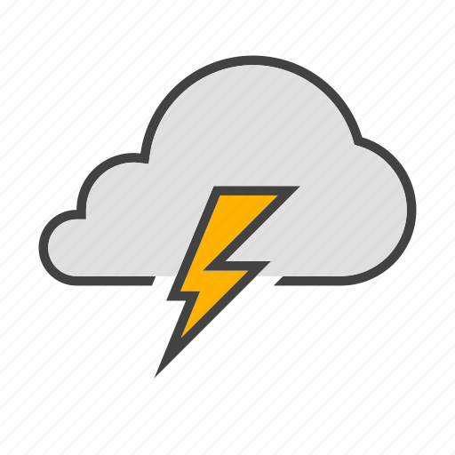 cloud, cloudy, forcast, thunder, weather icon