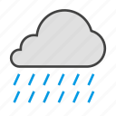 cloud, cloudy, forcast, rain, weather icon