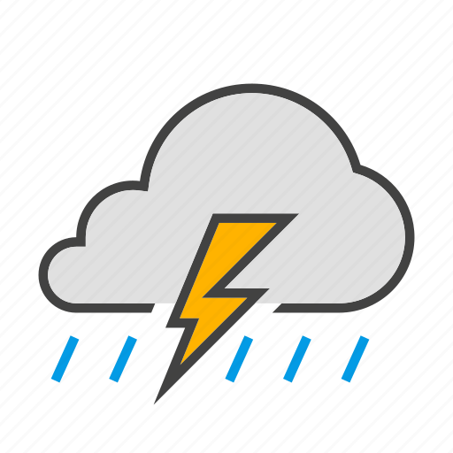 cloud, cloudy, forcast, rain, thunder, weather icon