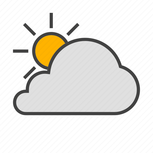 cloud, cloudy, forcast, sun, weather icon