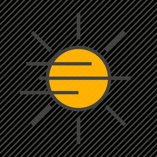 fog, forcast, sun, sunshine, weather icon