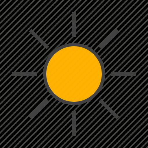 day, forcast, sunshine, weather icon