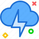 bolt, clouds, lighting, storm, sunset, thunders, weatherweather icon