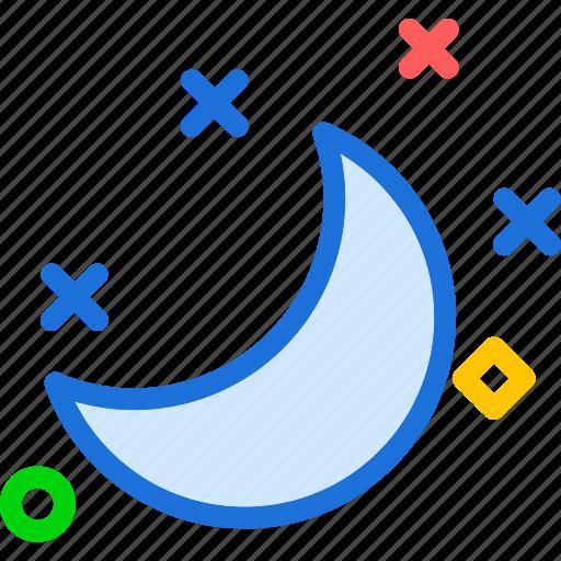 moon, night, stars, starsstars icon