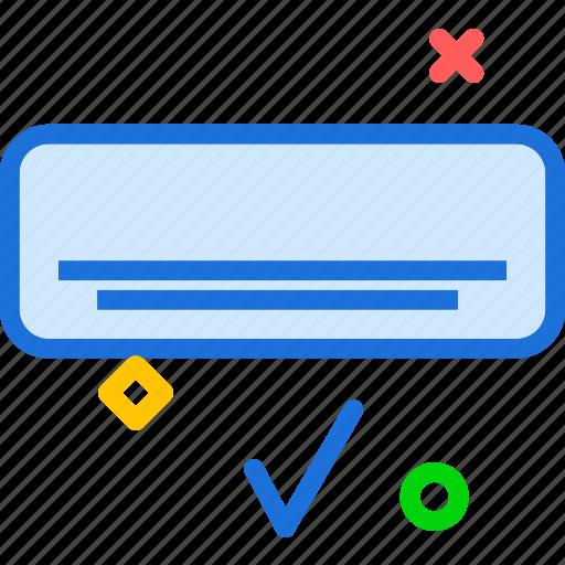 ac, air, conditioner, flow, ok icon