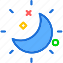 moon, night, stars, starsshine icon