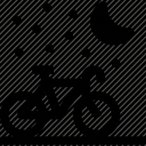 bicycle, drive, hobby, moon, night, stars, travel icon