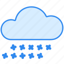 cloud, cloudy, hail, storm, weather icon