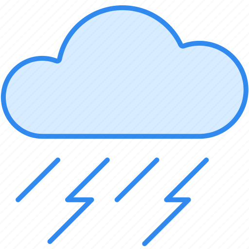 cloud, rain, rainy, thunder, weather icon