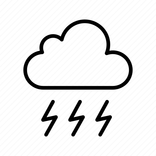 bad weather, cloud, lightning, storm icon