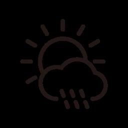 day, rain, raining, shower, sun, sunny, weather icon