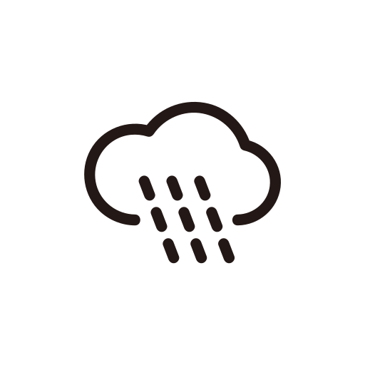 heavy rain, rain, shower, weather icon