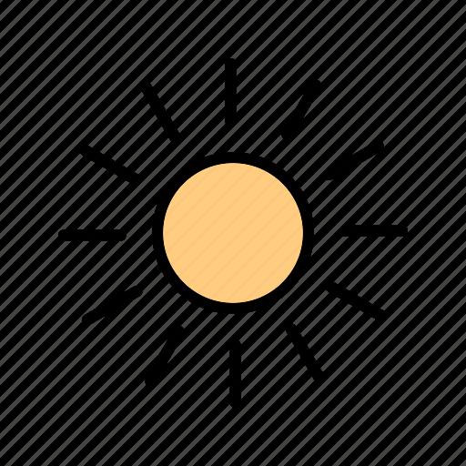 hot, sunlight, sunny, sunshine, temperature icon