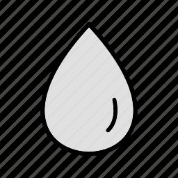 drop, liquid, rain, water icon
