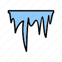 cold, ice, icicle, snow, winter icon