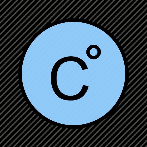 celcius, degrees, forecast, temperature, thermometer icon