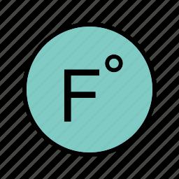 degree, farenheit, forecast, temperature icon