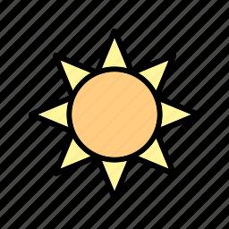 brightness, summer, sun, sunny icon