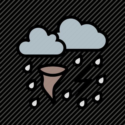 bad weather, rain, storm, tornado icon