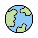 earth, globe, world icon