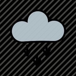 cloudy, flake, presipitation, rain, snow, snowflake icon