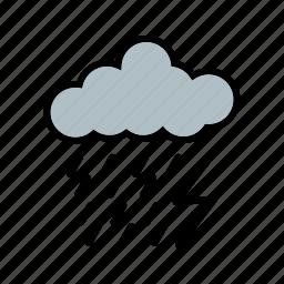 cloud, cloudy, dark, night, rain, ray icon