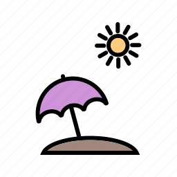 beach, cocktail, drink, umbrella, vication icon