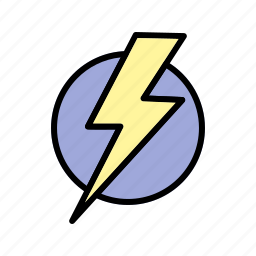 bolt, electric shock, lightning icon