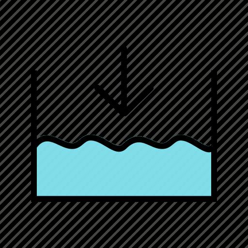 below, level, ocean, sea icon