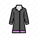 coat, long coat, rain icon