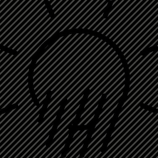 day, forecast, hail, rain, sun, sunny, weather icon