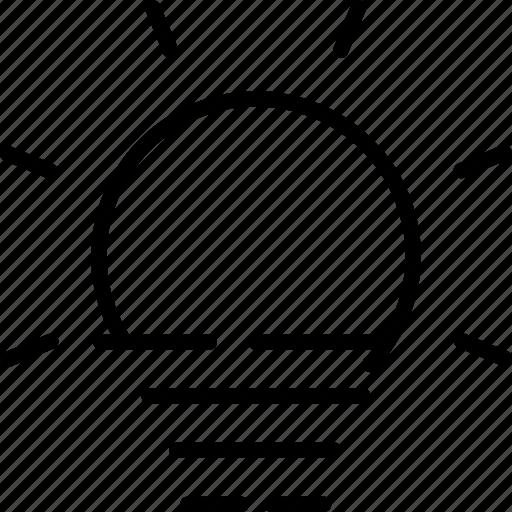 day, fog, forecast, haze, sun, sunny, weather icon